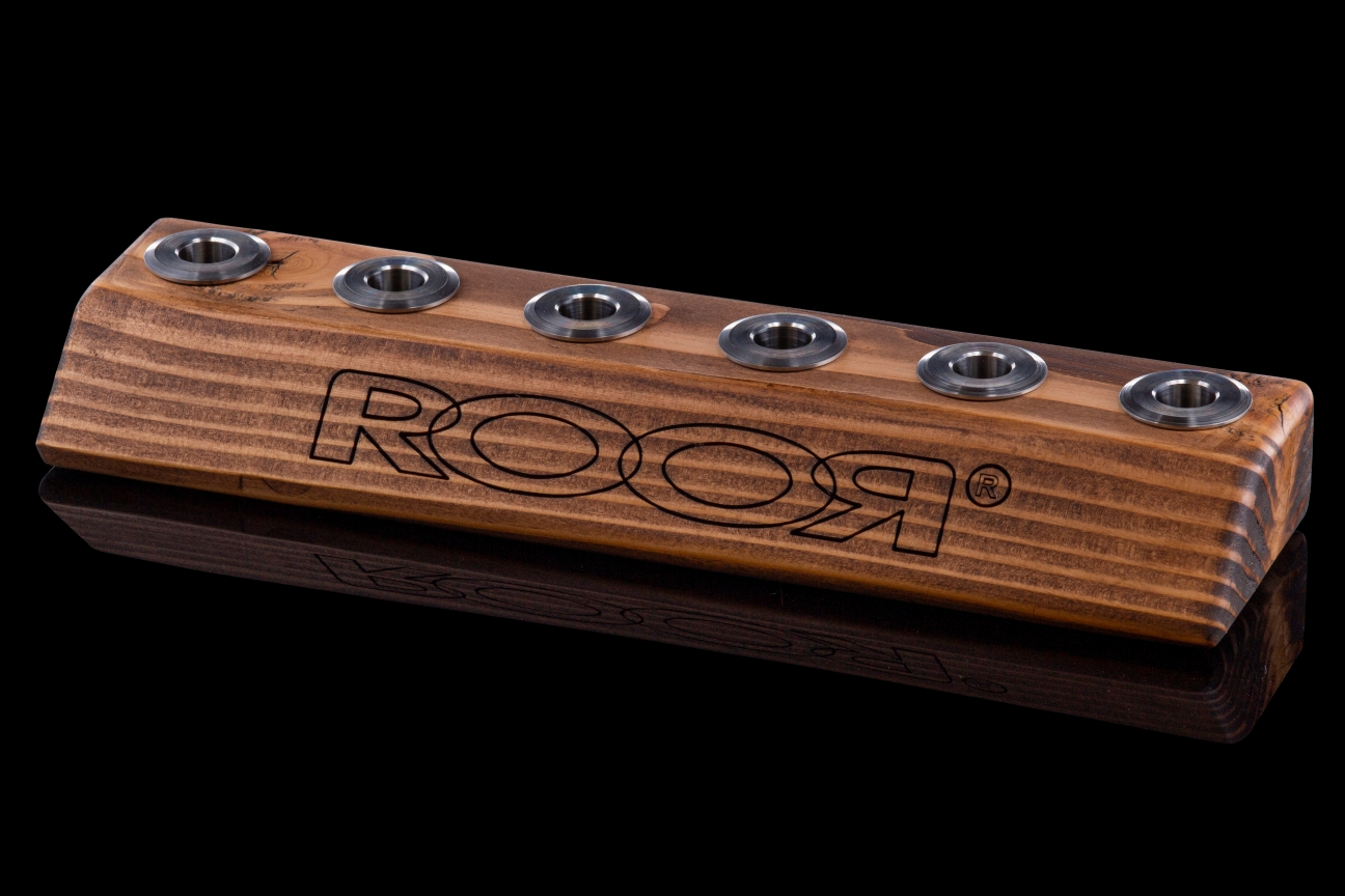 ROOR Large 6-Hole Bowl Holder  14.5mm Dark Wood
